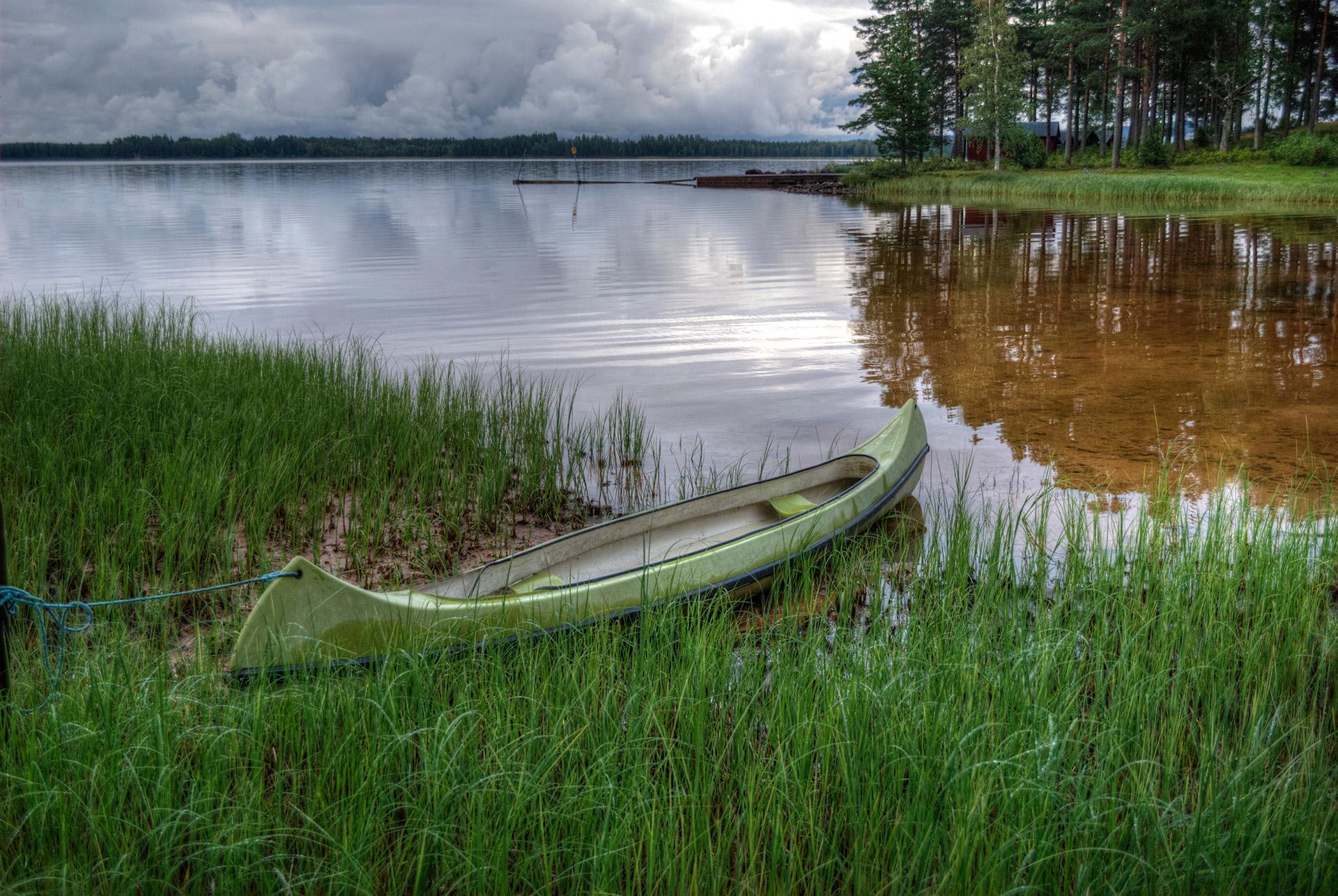 Kanot i Lundbjörken