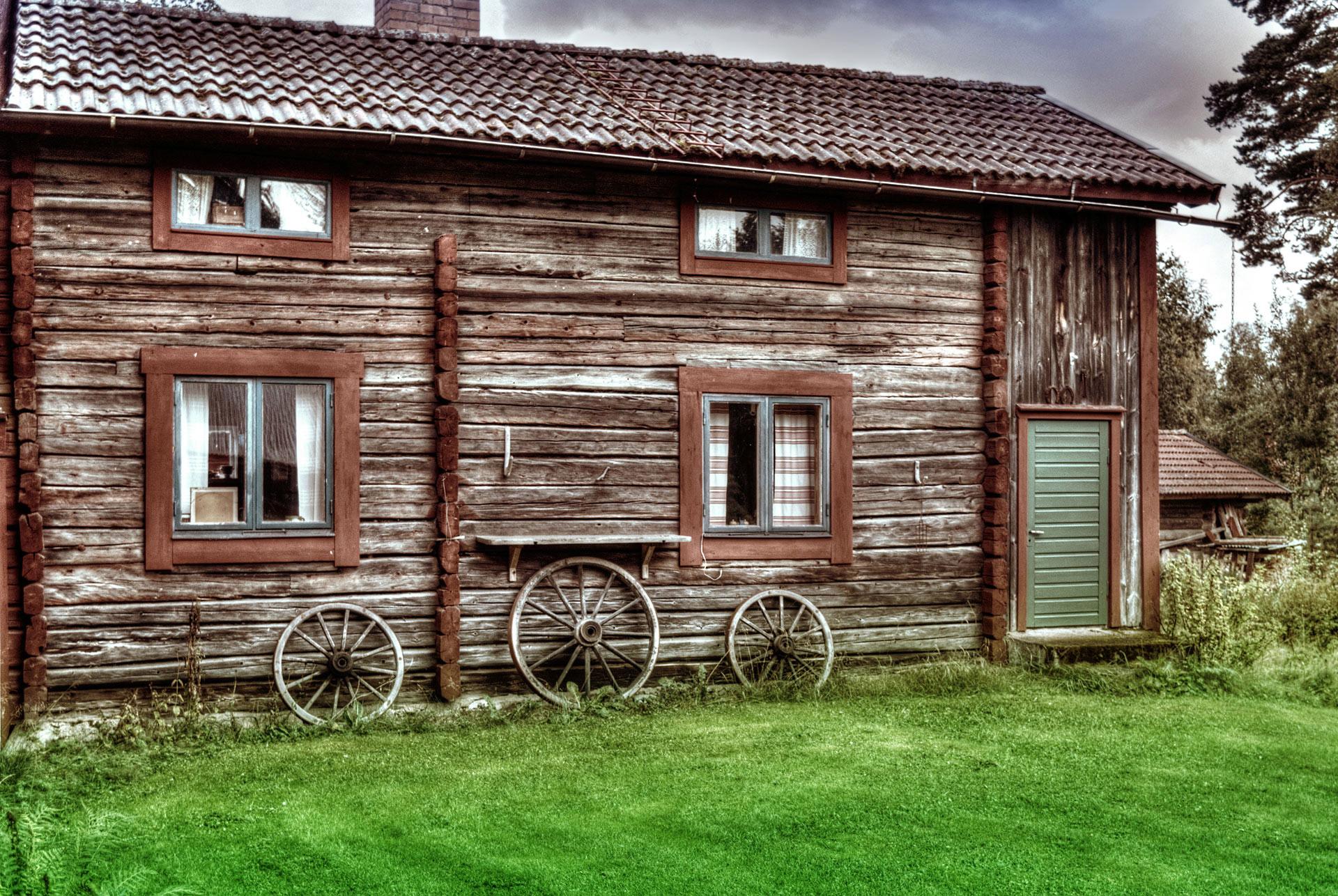 Stuga i Lundbjörken