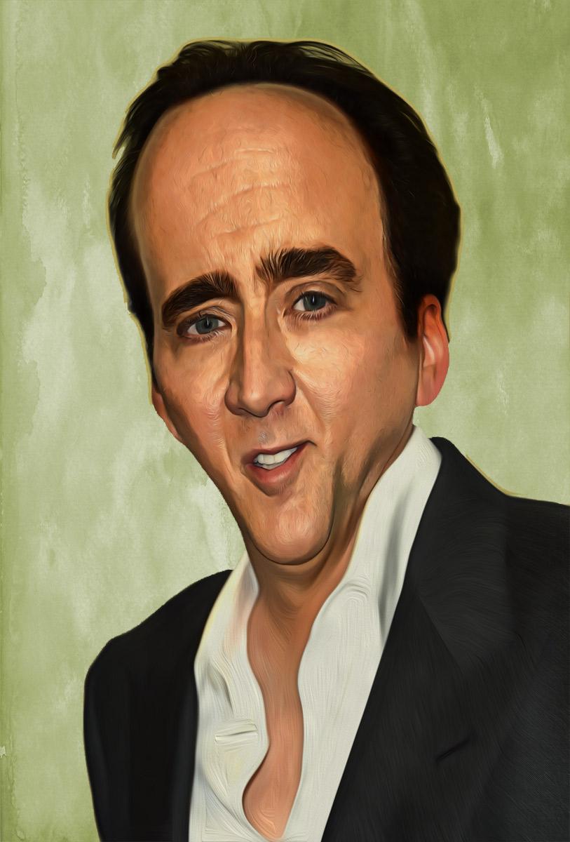 Nicolas Cage caricature