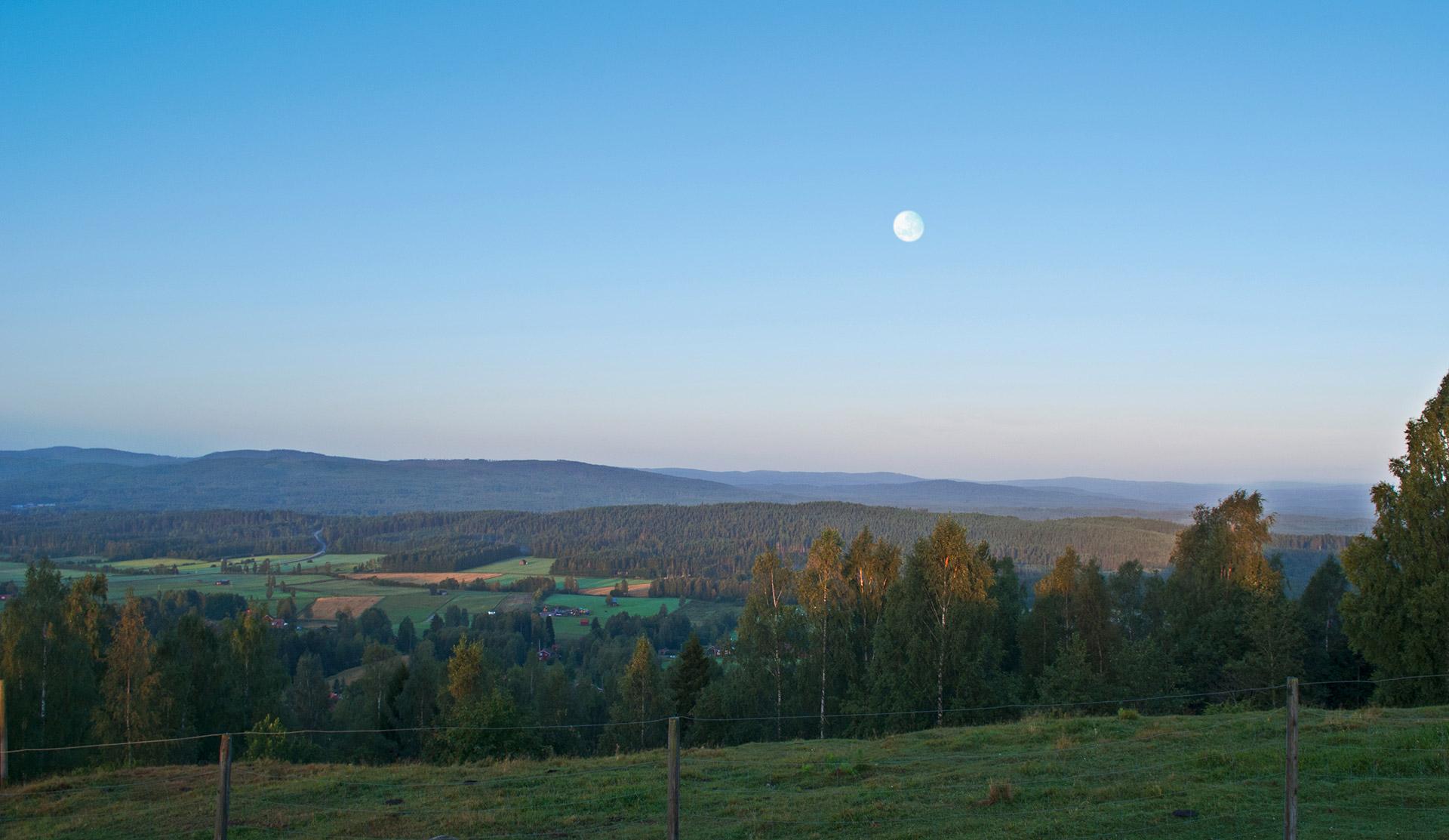 Utsikt från Björkberget, Siljansnäs