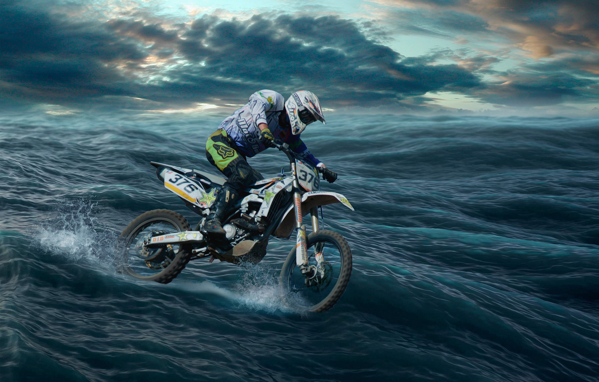 Motocross at sea